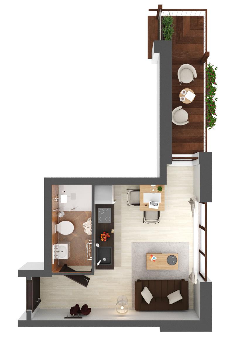 Apartament B2.23