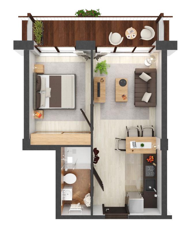 Apartament B4.17